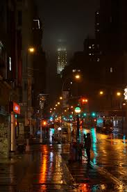 wet city streets