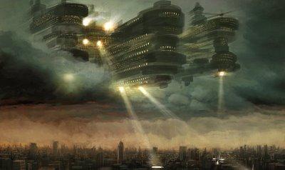 Cyberpunk City Whale Car