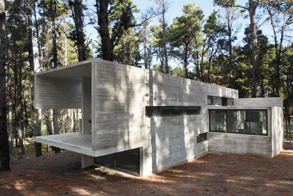 modern industrial concrete dieselpunk house
