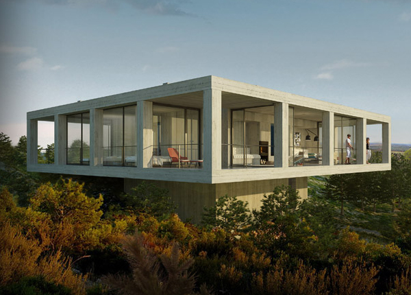 the solo house concrete house