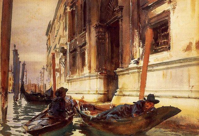 Gondolier's Siesta by John Sargent, 1905