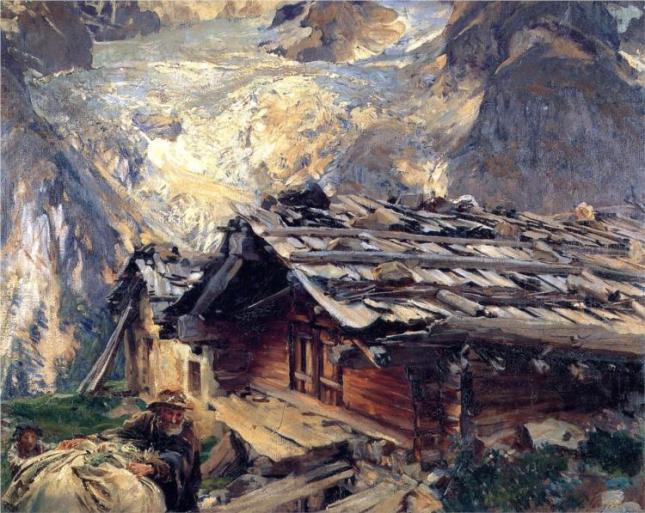 Brenva Glacier by John Sargent, 1909