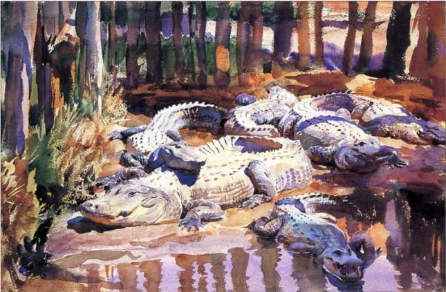 Muddy Alligators by John Sargent, 1917