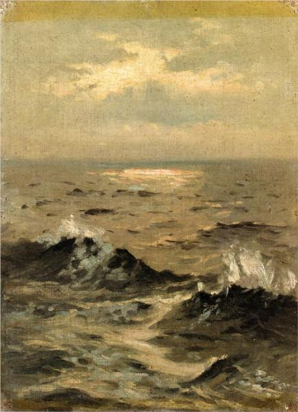 Seascape by John Sargent, 1875