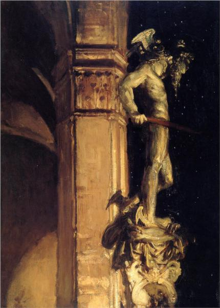 Statue of Perseus by Night by John Sargent, 1902