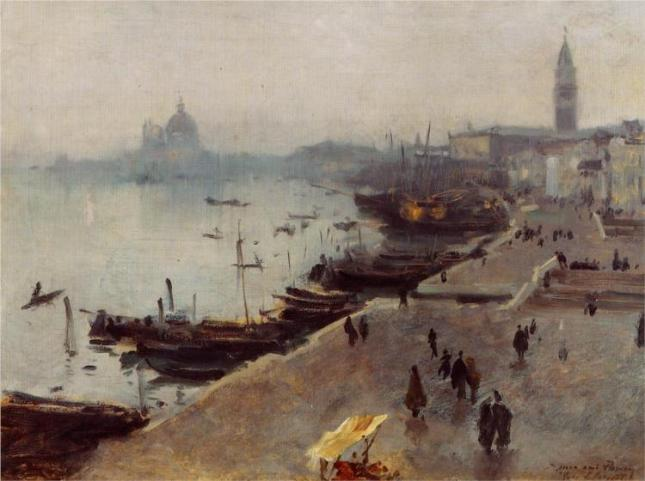 Venice In Grey Weather by John Sargent, 1882