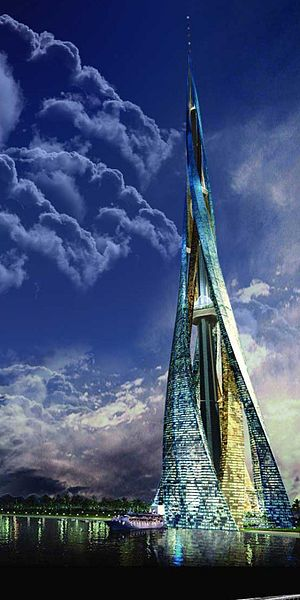 Dubai City Tower, arcology, city in a building