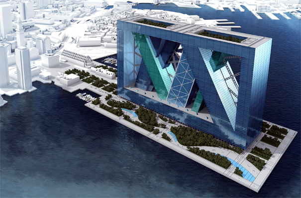 BoA arcology city in a building