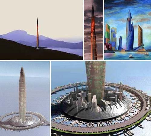 Bionic Tower arcology city in a building