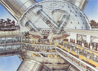 arcology, city in a building