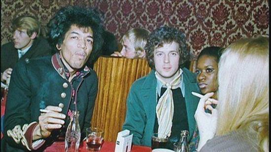 Jimi Hendrix and Eric Clapton