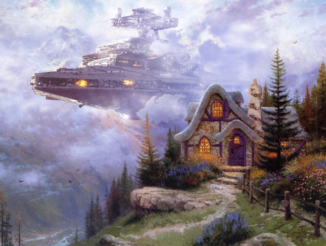 thomas kinkade star wars