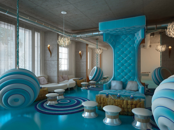 Crazy 60s interior design a steampunk opera the dolls for Different interior designs of houses