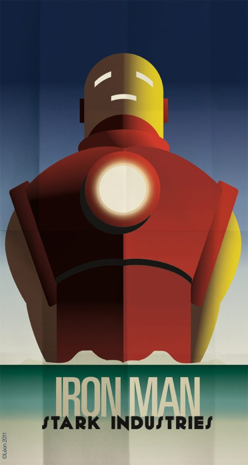 art deco superheroes
