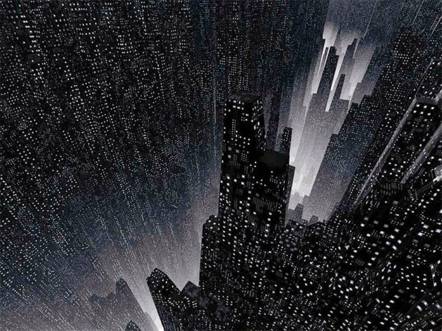 Ryan Bliss Atompunk megacity retro future city