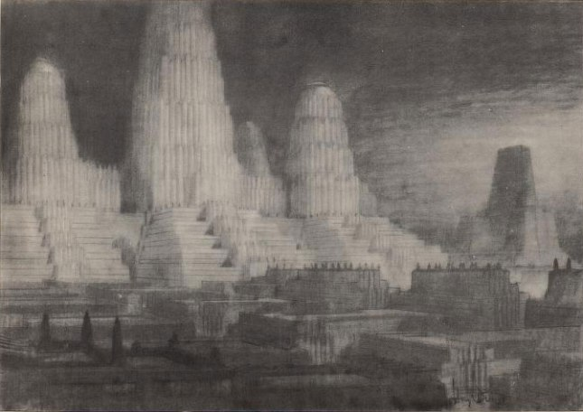 william robinson leigh Atompunk megacity retro future city