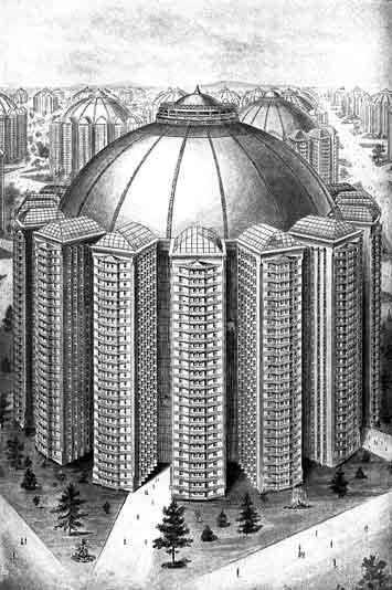 King Champ Gillette Atompunk megacity retro future city