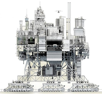 Walking City, Very Large Structure By Manuel Domínguez