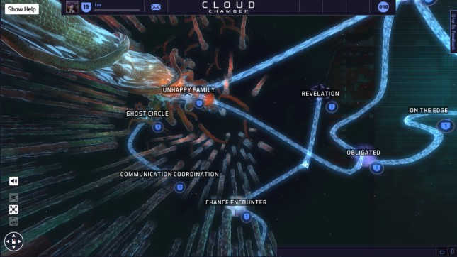 cloud chamber Massively Multiplayer Story Game
