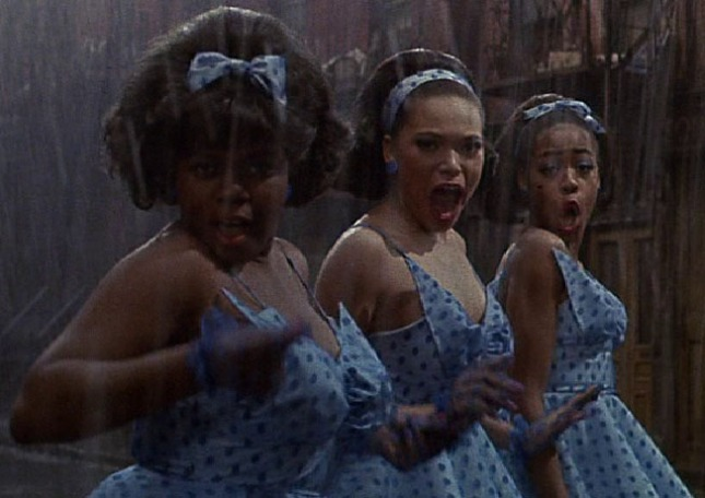 Crystal, Ronette and Chiffon in Little Shop of Horrors: