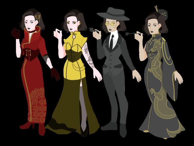gothic western steampunk cabaret hannah sarah de buck paul shapera