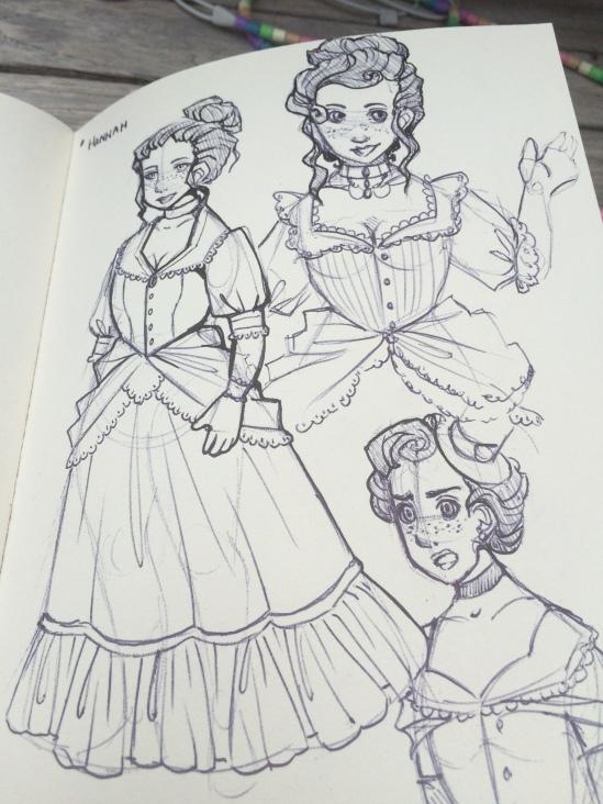 miss hannah gothic western steampunk dark cabaret character concept art sarah de buck paul shapera