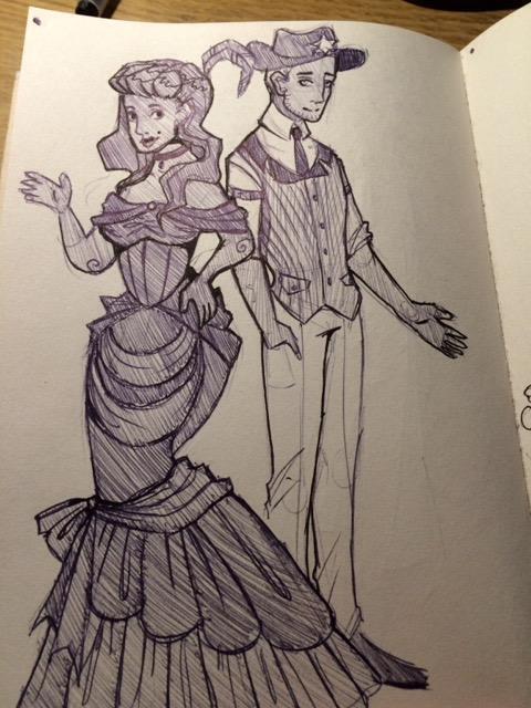 gothic western steampunk  dark cabaret  lost hallow paul shaper sarah de buck
