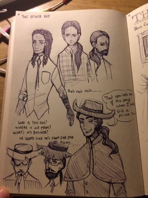 gothic western steampunk cabaret character concept art sarah de buck paul shapera
